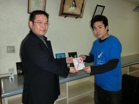カトリック長崎大司教区に寄付金を贈呈